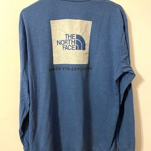 Shirts - The North Face Blue Long Sleeve